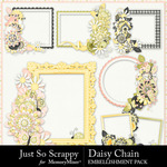 Daisy Chain JSS Cluster Frame Pack-$1.00 (Just So Scrappy)