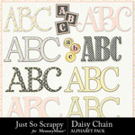 Daisy Chain JSS Alphabet Pack-$3.99 (Just So Scrappy)