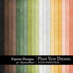 Plant Your Dreams Solid Paper Pack-$3.99 (Fayette Designs)