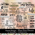 Plant Your Dreams WordArt Pack-$3.99 (Fayette Designs)