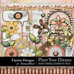 Plant Your Dreams Basic Embellishments-$3.99 (Fayette Designs)
