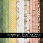 Plant Your Dreams Patterned Paper Pack-$4.99 (Fayette Designs)