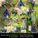 Time for Spring Cluster Pack-$3.99 (MagicalReality Designs)