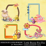 Little Bunny Foo Foo LB Clustered Frames-$4.99 (Laura Burger)