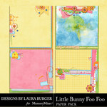 Little Bunny Foo Foo LB Water Color Papers-$3.99 (Laura Burger)