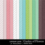 Garden of Flowers Glitter Paper Pack-$1.99 (Lindsay Jane)