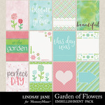 Garden of Flowers Journal Cards Pack-$1.99 (Lindsay Jane)