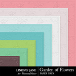 Garden of Flowers Embossed Paper Pack-$1.99 (Lindsay Jane)