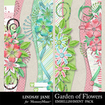 Garden of Flowers Border Pack-$1.99 (Lindsay Jane)