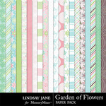 Garden of Flowers Paper Pack-$2.49 (Lindsay Jane)