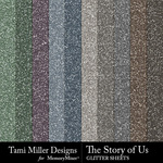 The Story of Us TM Glitter Paper Pack-$2.99 (Tami Miller)