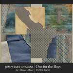 One for the Boys JSD Cardboard Papers-$3.99 (Jumpstart Designs)