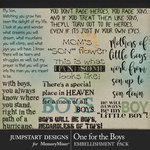 One for the Boys JSD WordArt Pack-$3.99 (Jumpstart Designs)