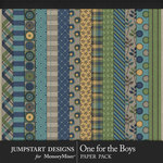 One for the Boys JSD Patterned Papers-$3.99 (Jumpstart Designs)