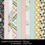 Belong Paper Pack-$2.99 (Karen Lewis)