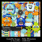 Silly Monsters Combo Pack-$4.99 (CutiePie Scraps)