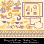 Spring Time DBK Embellishment Pack-$3.49 (Designs by Krista)