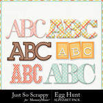 Egg Hunt Alphabet Pack-$3.99 (Just So Scrappy)