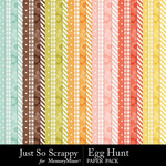 Egg Hunt Pattern Paper Pack-$1.99 (Just So Scrappy)