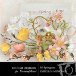 Its Springtime Embellishments-$4.99 (Indigo Designs)
