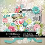 No 2 Alike Embellishment Pack-$4.99 (Fayette Designs)