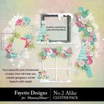 No 2 Alike Clusters Pack-$3.99 (Fayette Designs)