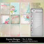 No 2 Alike Pocket Pieces Pack-$3.99 (Fayette Designs)