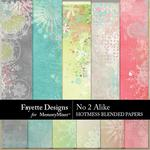 No 2 Alike Hotmess Blended Paper Pack-$3.99 (Fayette Designs)