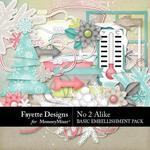 No 2 Alike Basic Embellishment Pack-$3.99 (Fayette Designs)