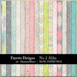No 2 Alike Basic Paper Pack-$3.99 (Fayette Designs)