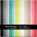No 2 Alike Solid Paper Pack-$3.99 (Fayette Designs)