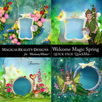 Welcome Magic Spring QuickPages-$2.80 (MagicalReality Designs)