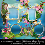 Welcome Magic Spring Cluster Pack-$1.50 (MagicalReality Designs)