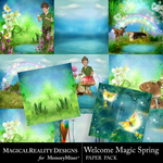 Welcome Magic Spring Paper Pack-$2.80 (MagicalReality Designs)
