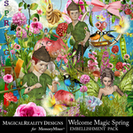 Welcome Magic Spring Embellishment Pack-$3.99 (MagicalReality Designs)