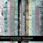 Newsflash Newsprint Paper Pack-$3.99 (Laura Burger)