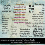 Newsflash WordArt Pack-$4.99 (Laura Burger)