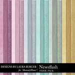 Newsflash Solid Paper Pack-$1.99 (Laura Burger)