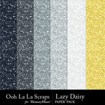 Lazy Daisy Glitter Paper Pack-$1.99 (Ooh La La Scraps)