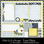 Lazy Daisy Journal Cards Pack-$1.00 (Ooh La La Scraps)