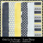 Lazy Daisy Worn Paper Pack-$1.00 (Ooh La La Scraps)