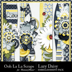 Lazy Daisy Borders Pack-$1.00 (Ooh La La Scraps)