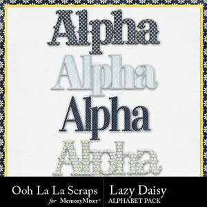 Lazy daisy alphabets medium