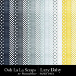 Lazy Daisy Patterned Paper Pack-$1.99 (Ooh La La Scraps)