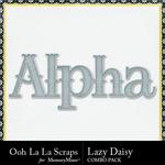 Lazy daisy kit alphabet small