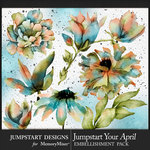 Jumpstart Your April 2017 Artful Blooms Pack-$3.99 (Jumpstart Designs)