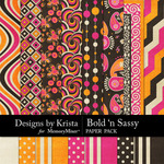 Bold n Sassy Paper Pack-$3.49 (Designs by Krista)