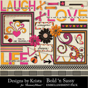 Bold n sassy embellishments medium