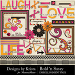 Bold n Sassy Embellishment Pack-$3.49 (Designs by Krista)