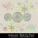 Birds Go Tweet Scatterz Pack-$1.40 (Lindsay Jane)